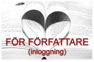 Bild: bokuppslag med sidor vikta som ett hjärta och med texten 'För författare' och länk till föfattarsida