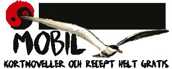 BILD: texten 'Fri Press Mobil' tillsammans med yin-jang i svart och rött, en bambupensel och en skäggtärna i flykt